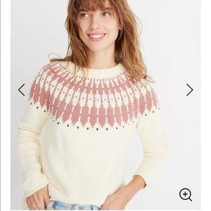 Madewell Fair Isle Keaton pullover sweater Sz 2X